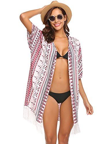 parei Camicia Elegante Motivo1 Copricostume Spiaggia Copricostumi S Abito Spiaggia XL Maniche Costume da da Unibelle 3 e Chiffon a 4 Bagno Donna Xfqgx6wxF