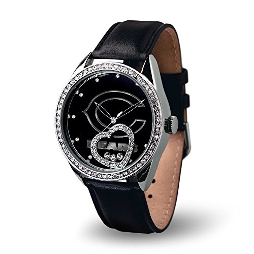 NFL Chicago Bears Beat Watch, Black - Chicago Bears Heart Watch