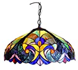 Chloe Lighting CH18780T-DPD2 Tiffany-Style 2-Light Ceiling Pendant Fixture with 18-Inch Shade