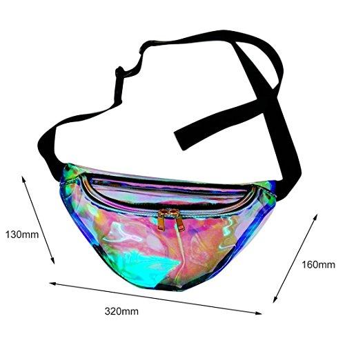 Laser Reflective Bag PU For Purse Pack Swiftswan Women Waist Fanny Chest Cool Fashion qaYxA5vI