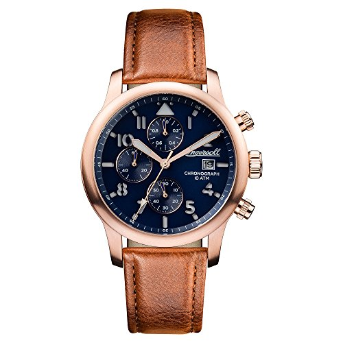 Ingersoll Men's Automatic Stainless Steel and Leather Casual Watch, Color:Brown (Model: I01502)