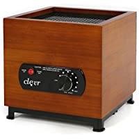 Clevr 8 Stage Ozone Generator Air Purifier, Bamboo Casing Design, Filter, Ozone, Ionic, UV, Plasma, Home Use, 1000 Square Feet Coverage, allergies allergen reducer | 1 YEAR LIMITED WARRANTY