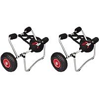 vidaXL Chariots pour Kayak Chariots Roulants Chariots de Transport pour Bateau Chariot à Roues de Canoë Robuste Pare-Chocs 70 kg
