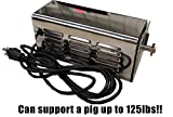 Heavy-duty Stainless Steel Spit Rotisserie Motor- Up to 125lbs