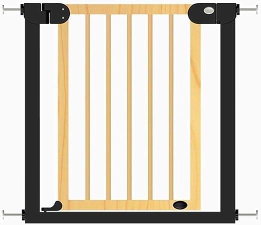 Dxg Barandilla bebé Puertas de Madera para bebés Seguridad Extra Ancha y Alta para escaleras Puertas Puerta para Mascotas Perro Gato Presión de presión 76-111 cm Ancho Altura 77 cm Escalera: Amazon.es: