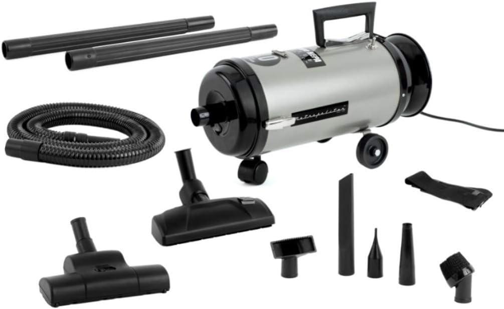 MetroVac 113-577973 Model OV4SNBF-200C Professional Evolution Compact Canister Vacuum, Satin Nickel/Black Finish, 4.0 Peak HP HP Twin Power Motor, 11.25 Amps, 1350 Watts