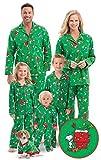 PajamaGram Fun Family Christmas Pajamas - Charlie Brown, Green, Men's, LG