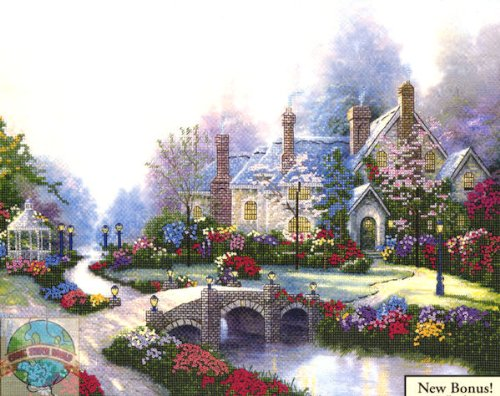 Beyond Spring Gate - Thomas Kinkade - Counted Cross Stitch - Chart No. 90066