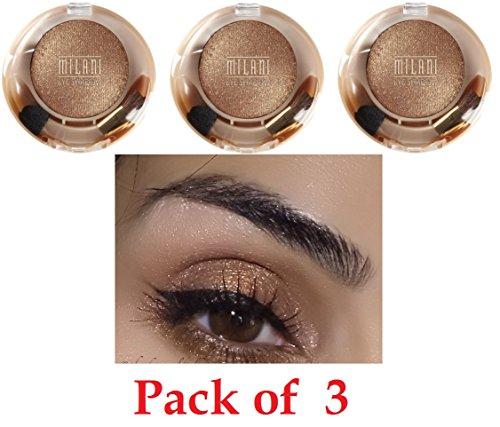 Milani Runway Eyes Wet/dry Eyeshadow, Bronze Doll, 3 Pack