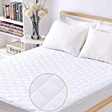 Waterproof Mattress Pad Twin Twin Size Mattress Pad 100% Waterproof Hypoallergenic Quilted Fitted Mattress Cover, Stretched to Fit Deep Pocket Mattress Protector- Vinyl Free