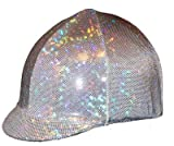 Equestrian Riding Helmet Cover - Holographic Silver