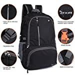 OXA Ultralight Foldable Daypack Packable Backpack 30L, Durable Hiking Backpack Travel Backpack 9 Night Article Reflective Design: Night article reflective features on the front pocket, so that you can be seen easily and improve your travel security at night Roomy and Compact: 19.0x12.5x5.7 inches when unfolding. Fits 1-2 days worth of clothes, all the equipment you will need for hiking. Can be folded easily back into a pouch form to the size 11x7.5x1.7 inches,easy to store and fit nicely in a suitcase Lightweight Yet Durable: Only 0.87lb. Made of high quality tear and water resistant nylon material to ensure compressive strength and durability. Major stress points are enhanced by bartacks and SBS zippers across the backpack are smooth to use