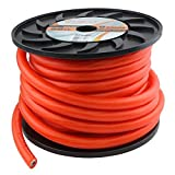 Heat Car Audio PC0-50 1/0 AWG 0 Gauge 50 ft Orange Power Wire Cable