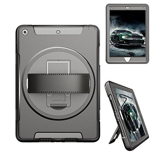 Shockproof Armor TPU/PC Case for Apple iPad Pro 9.7 - Black - 7