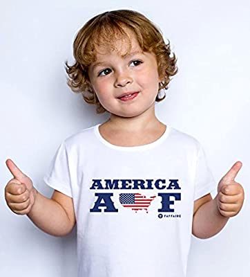 Fayfaire 4th of July Independence Day Shirts for Girls and Boys America AF More Sizes