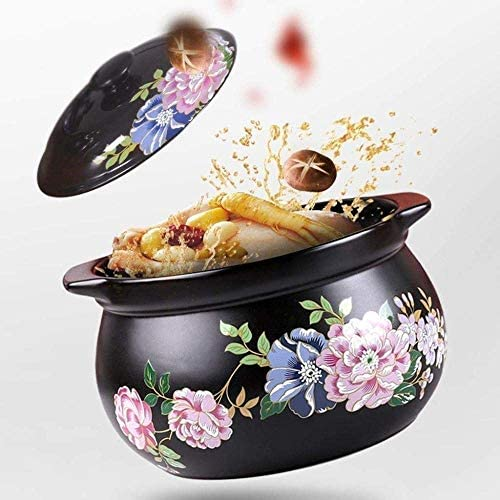 weiwei Pot en Terre Cuite Pot en Terre Cuite Cocotte en céramique Cocotte en céramique - Cuisson à Haute température sans décoloration sans vieillissement Saine et résistante