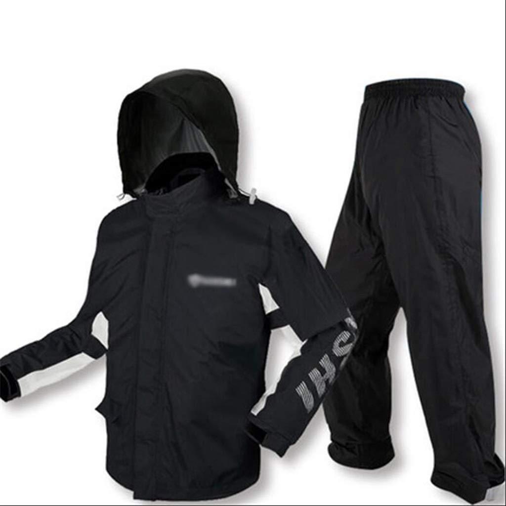noir X-grand LLHY Imperméable Imperméable Costume, Pantalon épais Double émeute imperméable Pantalon de Pluie Complet du Corps Manteau Poncho d'équitation Yuyi (Couleur   vert, Taille   S)