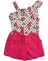 IZ AMY BYER Girl's Size 4 Pink Dot Cherry Romper, One-Piece Clothing