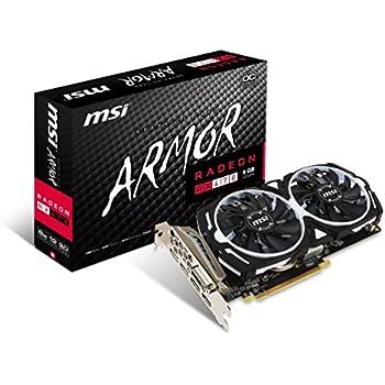 MSI GAMING Radeon RX 470 GDDR5 8GB CrossFire FinFET DirectX 12 Graphics Card (RX 470 ARMOR 8G OC)