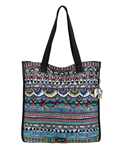 Sakroots Flat Shopper Tote, Radiant One (World Shopper Tote)