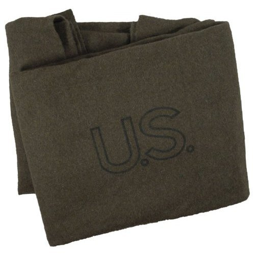 McGuire Gear G.I. Style Military Blanket, Olive Drab Green