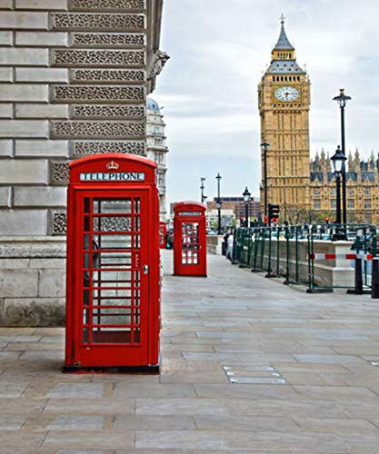 Gardenia 8x10ft London City Landmark Street England Big Ben Pictorial Cloth Customized Photography Backdrop Digital Printing Background Photo Studio Props for Theme Party YouTube 5236 -