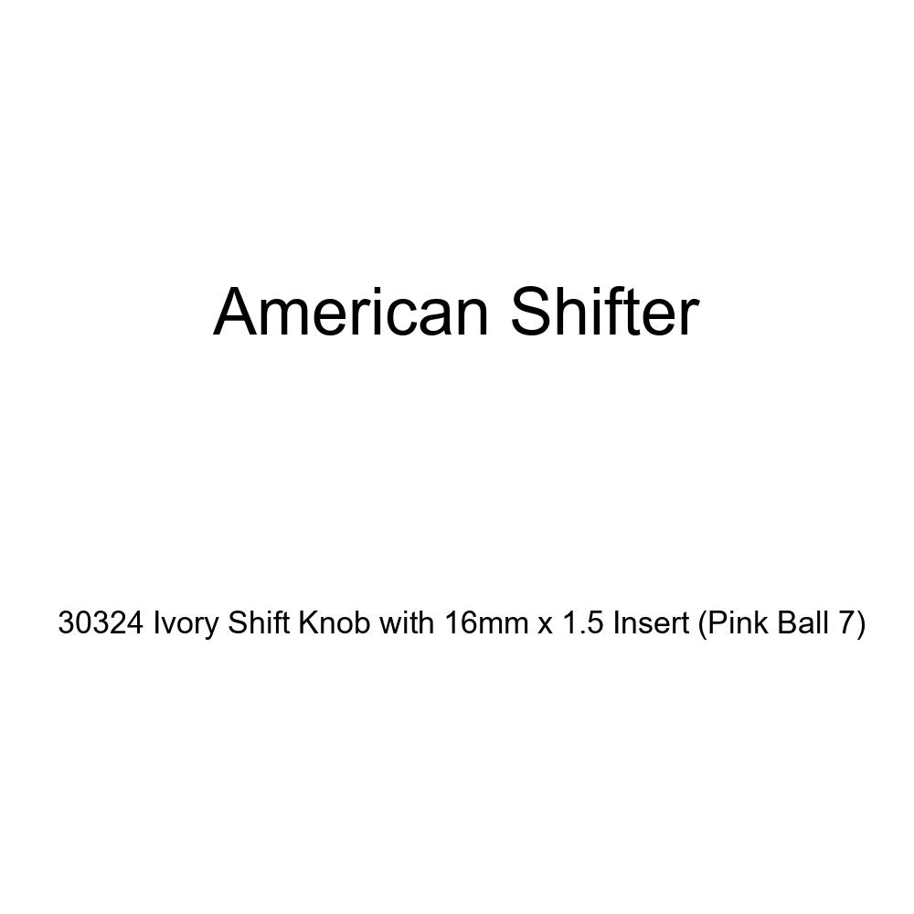 American Shifter 30324 Ivory Shift Knob with 16mm x 1.5 Insert Pink Ball 7
