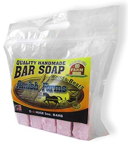 Amish Bar - Amish Farms Quality Handmade Natural Bar Soap Pack of 3 Bags (15 Bars)