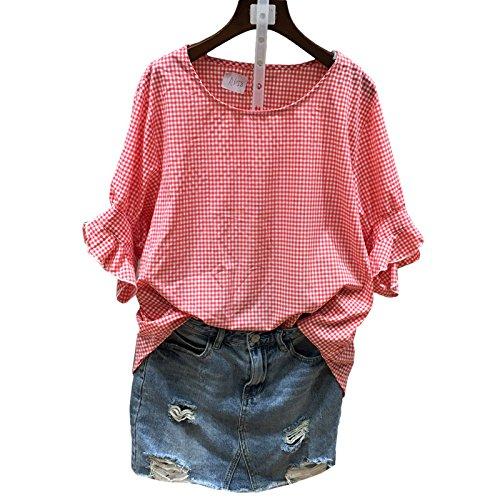 Xmy chemise à manches courtes femmes petit air sucré frais en coton doux et polyvalent code sont vêtements de poupée