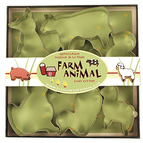 Fox Run 3651 Farm Animal Cookie Cutter Set ()