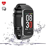 Fitness Tracker Smart Watch, Activity Tracker with Heart Rate Monitor, IP67 Waterproof Smart