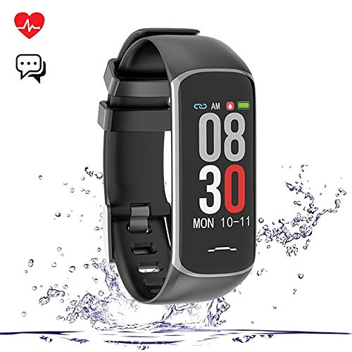 Fitness Tracker Smart Watch, Activity Tracker with Heart Rate Monitor, IP67 Waterproof Smart Fitness Band with Blood Pressure, Step, Calorie Counter, Pedometer Watch for Women and Men (Z-B2-Black)