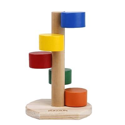 1pcs Toy Escalera de Madera de Colorido para Hámster Juguete para Mascotas: Juguetes y juegos