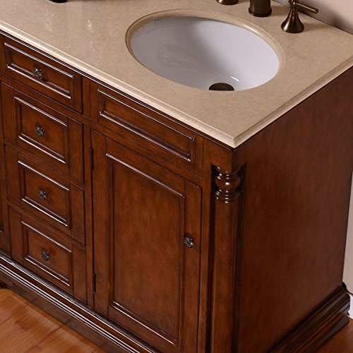 Silkroad Exclusive Single Right Sink Bathroom Vanity with Furniture Cabinet, 36-Inch by Silkroad Exclusive (Image #3)