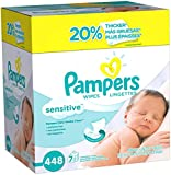 Pampers Sensitive Baby Wipes - Unscented - 448 ct Image