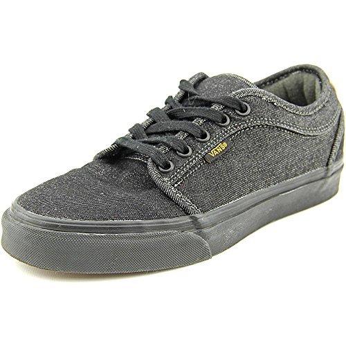 Men's Chukka Low Denim Skateboarding Shoes (7 Black/Cork)