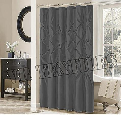 VR textiles - Cortina de algodón egipcio con ventana pintuck, color gris: Amazon.es: Hogar