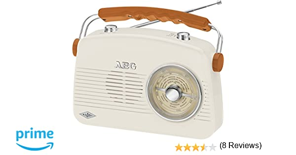 AEG NR 4155 Radio Retro FM/Am, AUX-IN, Color Crema: AEG: Amazon.es: Electrónica