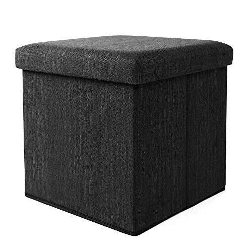 Yuleee Enviromental Foldable Storage Ottoman Seat Footrest Stool Coffee Table Cube Folding Organizer Seat 15