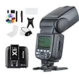 TT685F 2.4G HSS TTL GN60 Flash Speedlite with X1T-F Trigger Transmitter Kit for Fuji X-Pro2/X-T20/X-T1/X-T2