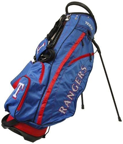 Team Golf MLB Texas Rangers Fairway Golf Stand Bag, Lightweight, 14-way Top, Spring Action Stand, Insulated Cooler Pocket, Padded Strap, Umbrella Holder & Removable Rain Hood (Texas Mlb Light Rangers)