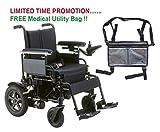 Drive Cirrus Plus EC Folding Power Wheelchair, 16'' Seat & FREE Medical Utility Bag Gray! - #CPN16FBA