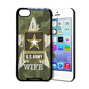fashion case US Army Wife Camo iphone 5s Case - Thin Shell Plastic Protective Case iphone 5s Case