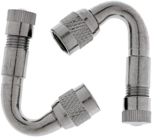 Silber 90 Grad Silber 2 St/ück Ventil Extender Reifen Ventilverl/ängerung Winkel Rad Adapter f/ür Auto Motorrad Fahrrad LKW