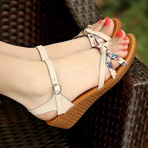 High Like Dew Boeuf Femmes Sandales Tendon Heeled La De EU36 Bas De SHOESHAOGE Sous Femme Chaussures Pente Confortable EUfn6qpx1p