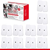 TENS Unit Electrodes - Snap Electrode Pads for TENS Massage EMS - Self Adhesive Reusable up to 30. (X-Large)