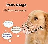 1 PC Pet Dog Muzzle PP Environmental Pet Supplies Products Puppy Dogs Muzzle Mask Adjustable Strap Prevent Bite Bark Muzzle Size 2