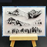 BarFeer Snow Mountain Transparent Clear Silicone Stamps for DIY Scrapbooking/Card Making/Decorative sheets