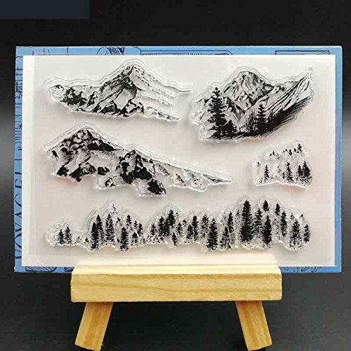 BarFeer Snow Mountain Transparent Clear Silicone Stamps for DIY Scrapbooking/Card Making/Decorative sheets by BarFeer