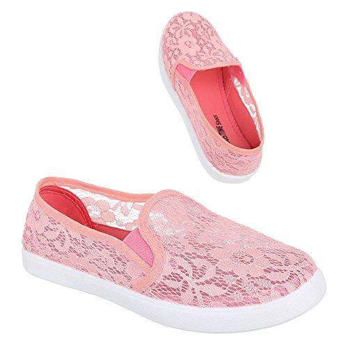 Ital-Design - Mocasines de Material Sintético para mujer 39, color rosa, talla 37 EU
